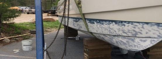 Glass Tech Boat bottom stripping1