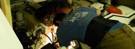 Guy Crudele working on engine 2